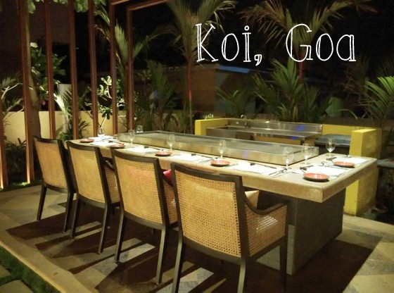 new restaurants in north goa , koi calangute