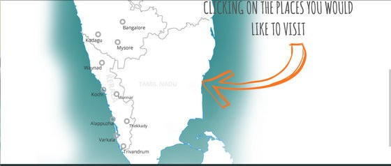 kerala map for backpackers