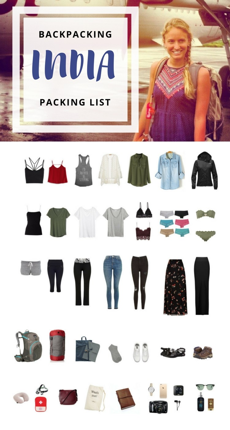detailed backpacking through india packing list hippie in heels