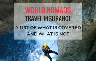 What is covered on world nomads travel insurance