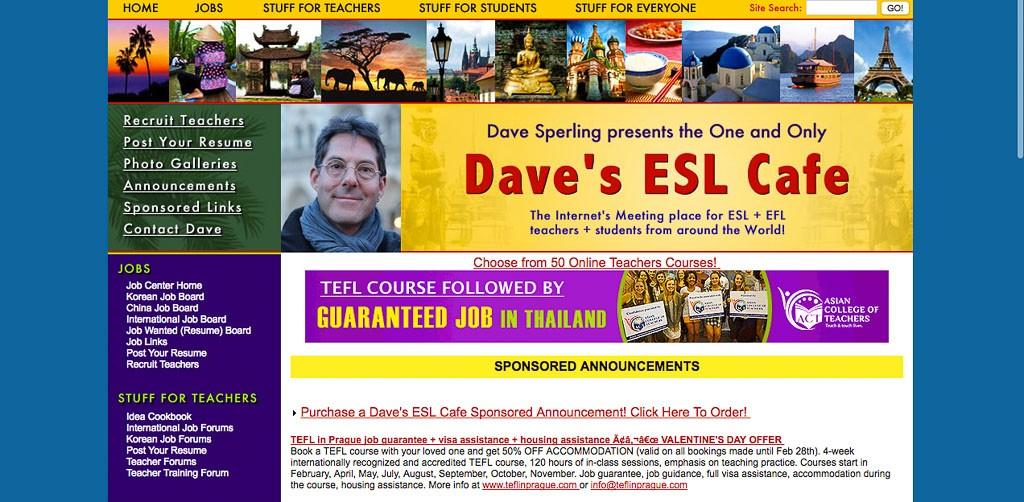 Dave S Esl Cafe Korea Jobs