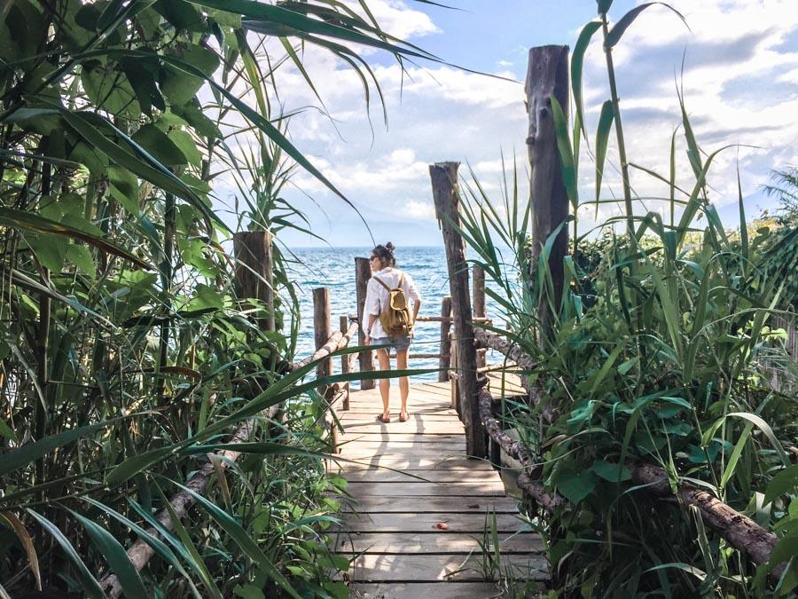 walking to Jaibalito from Santa Cruz Lake Atitlan