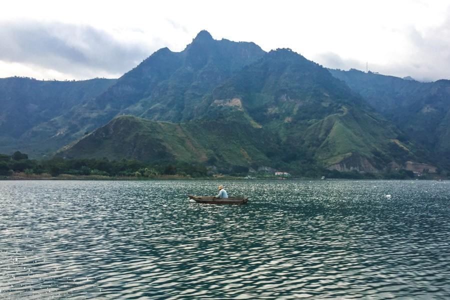 fisherman lake atitlan guatemala