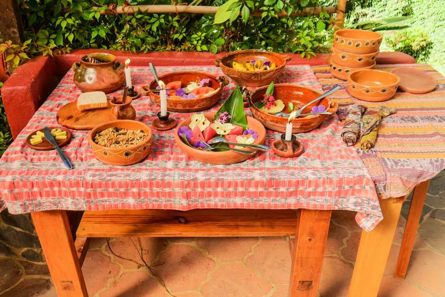 lush breakfast lake atitlan guatemala