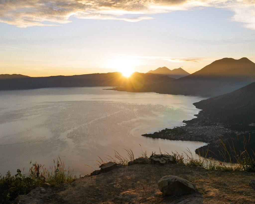 indian's nose hike lake atitlan guatemala