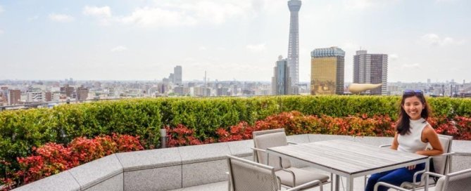 the gate hotel kaminarimon wing rooftop asakusa tokyo