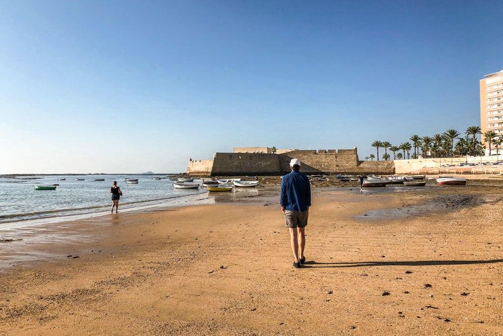 la playa la caleta cadiz andalucia