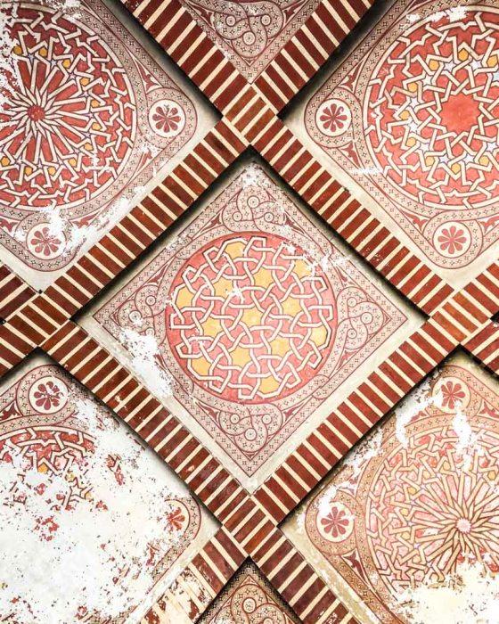 ceiling in the alcazaba malaga