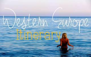 sample western europe itinerary