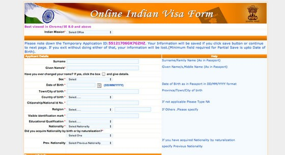 how to apply for indian tourist visa from usa