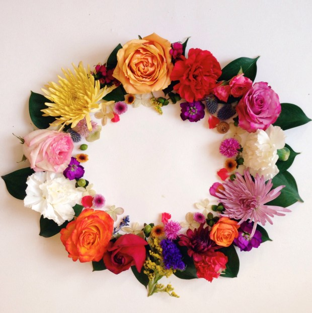 Floral flower wreath danielle chassin hippie in disguise