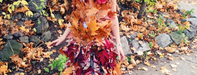 Mother Nature Leaf Dress Hippie