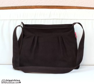 Dark Brown Pleated Small Purse Bag