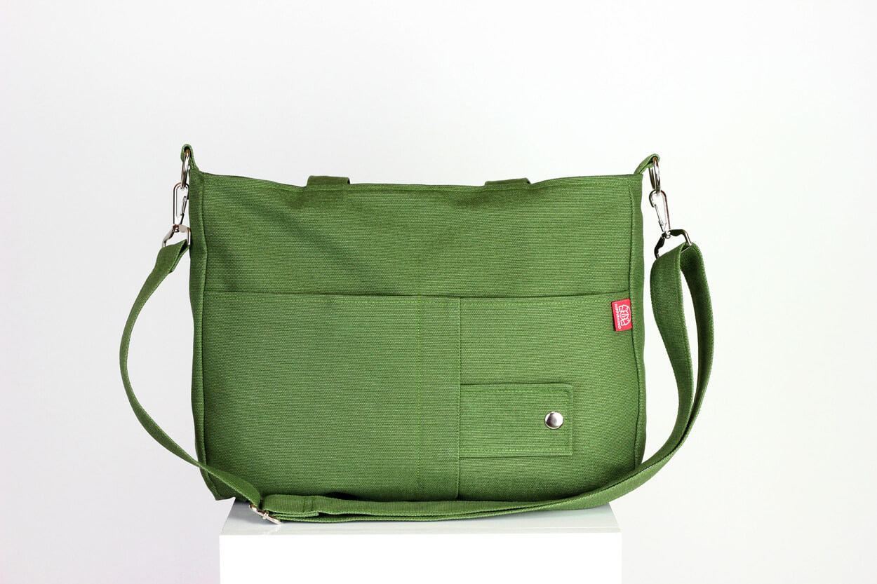 fe008d35a2 Light Military Green Bag Washable Daily Use Handmade Double ...