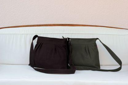 small canvas brown purse