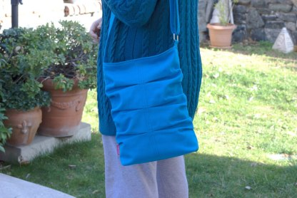 Azure blue canvas tote bag from hippirhino