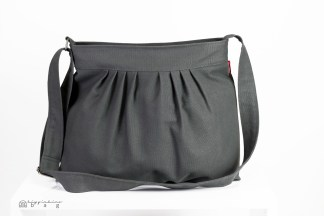 gray pleated bag