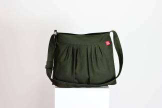 Pleated Canvas Purse Bag