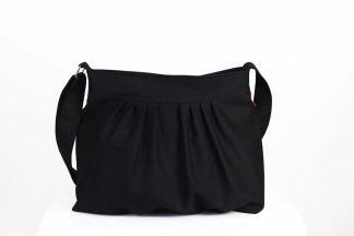 Black canvas purse bag