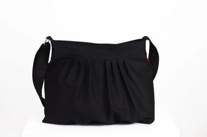 Black canvas purse bag