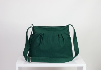 green small vegan purse bag