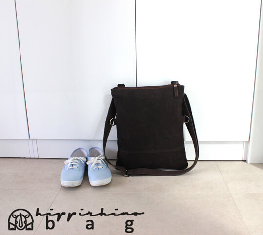 c85c55865971 hippirhino handmade bags purses totes Brown waxed folded small tote