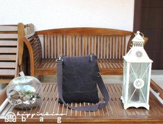 Dark Brown Waxed Foldover Tote Bag
