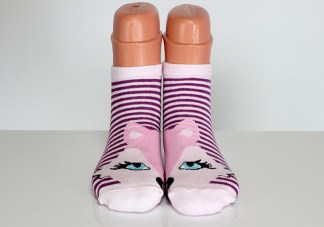 Striped Happy Funny Fox Socks