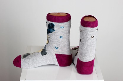 Deer Happy Funny Socks