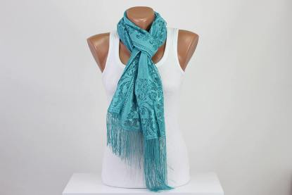 Perforated Silky Scarf
