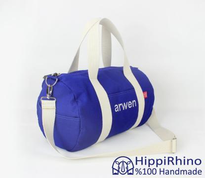 Monogram embroidered sport bag