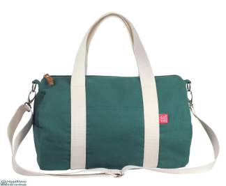 Green Washable Cotton Duffle Duffel Bag