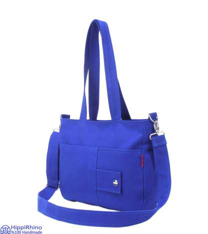Blue Handmade Shoulder Bag