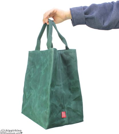 Waxed Cotton Grocery Market Shopping Bag