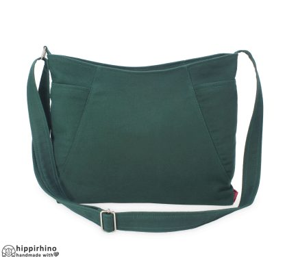 Grass Green Cotton Canvas Pocket Hobo Bag