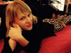 брюки леопард