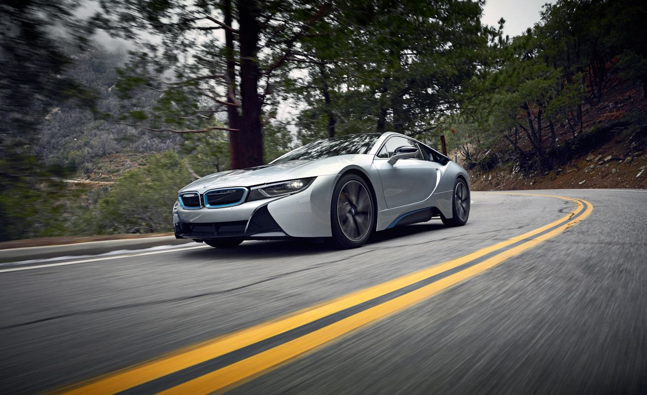 2015 bmw i8 vs. angeles crest highway test – review – car and driver