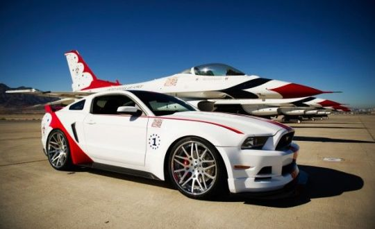 One Off Ford Mustang GT Inspired by Air Force s Thunderbirds     News     View Photos 2014 Ford Mustang GT U S  Air Force Thunderbirds Edition