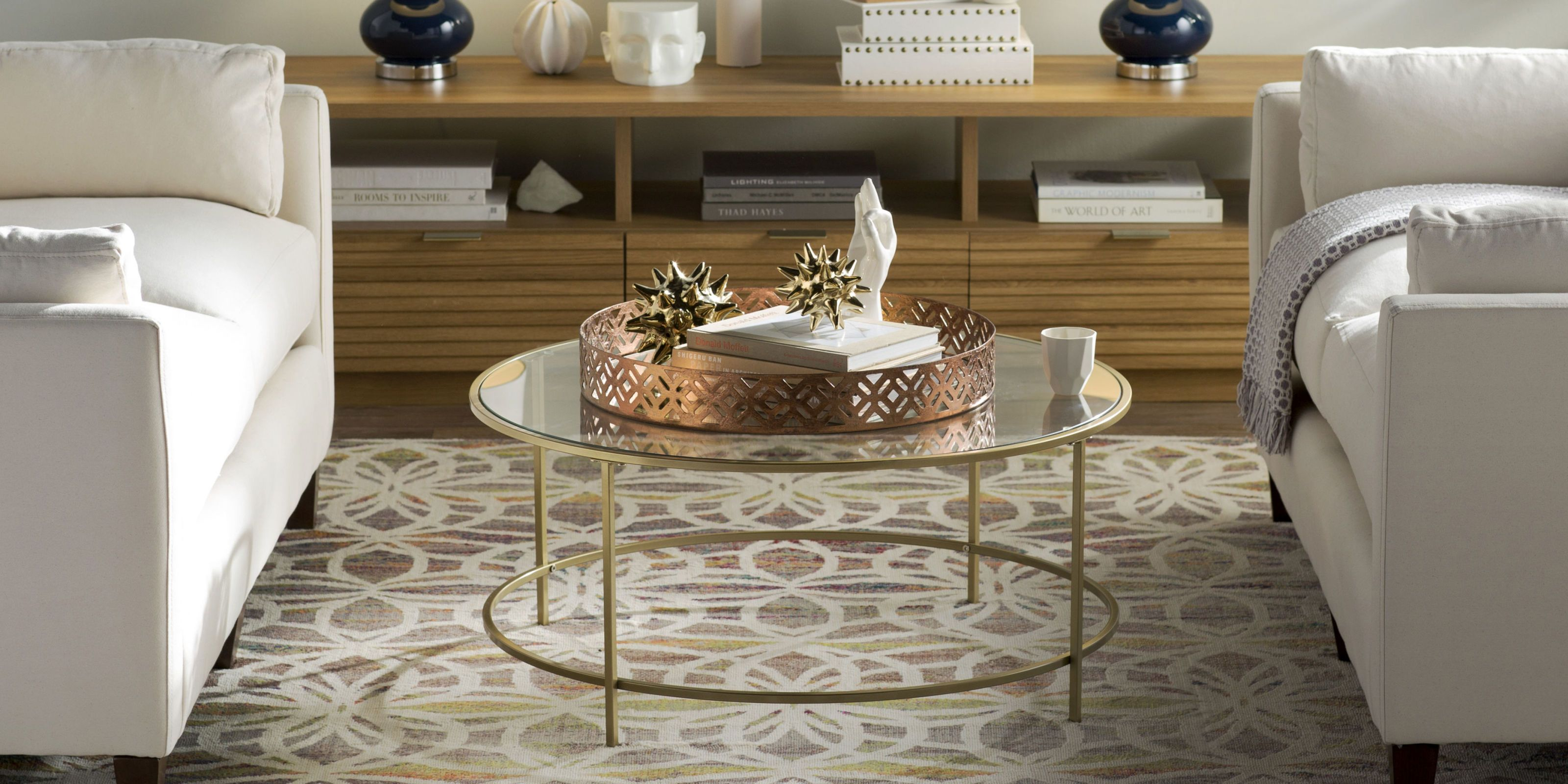11 gorgeous glass coffee tables for an open airier room