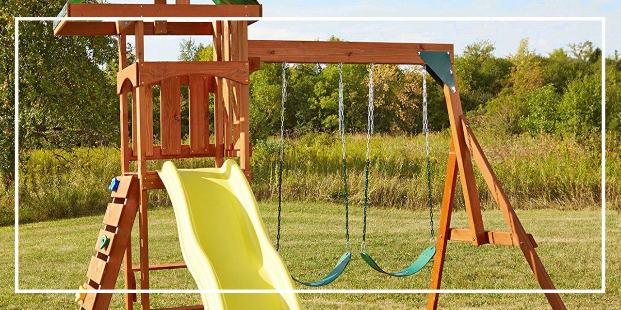 9 Best Wooden Swing Sets In 2018 Sturdy Wooden Outdoor