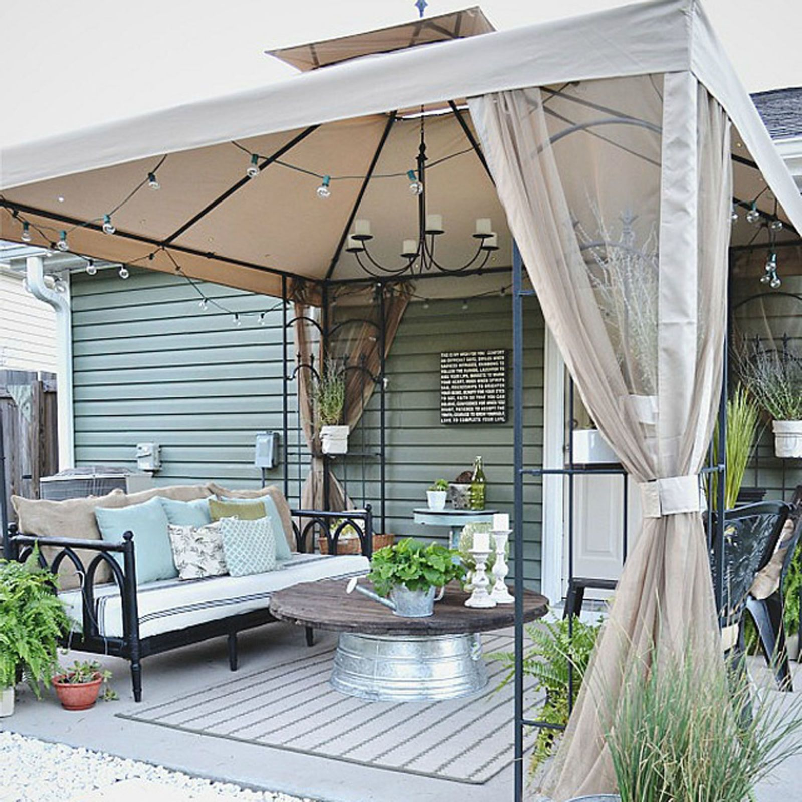 Liz Marie Blog Patio Before and After - Patio Decorating Ideas on Backyard Patios On A Budget id=54782