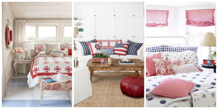 Patriotic Decor 4th Of July Red White And Blue Decorating Ideas