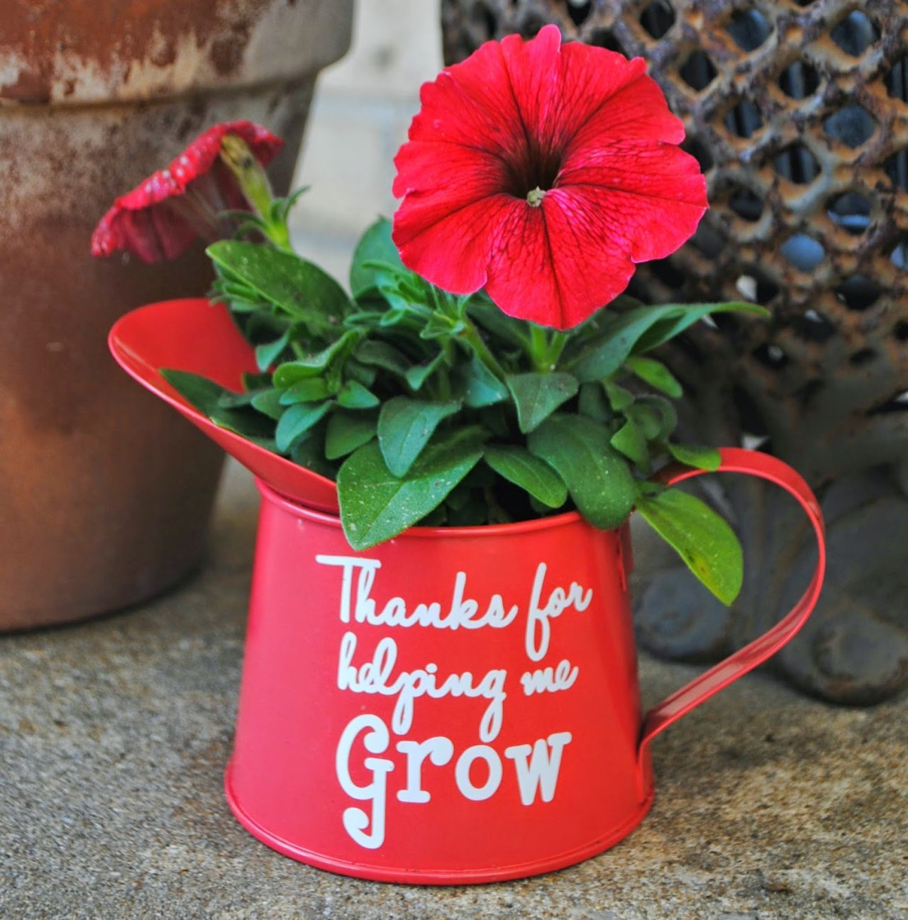 With a sweet message, this dollar store watering can turns into the perfect end-of-year present for your kid's favorite teacher. <a target=