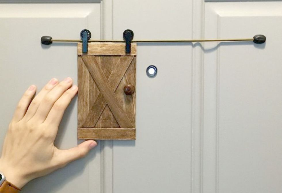 Sliding Barn Door Peephole Peephole Security
