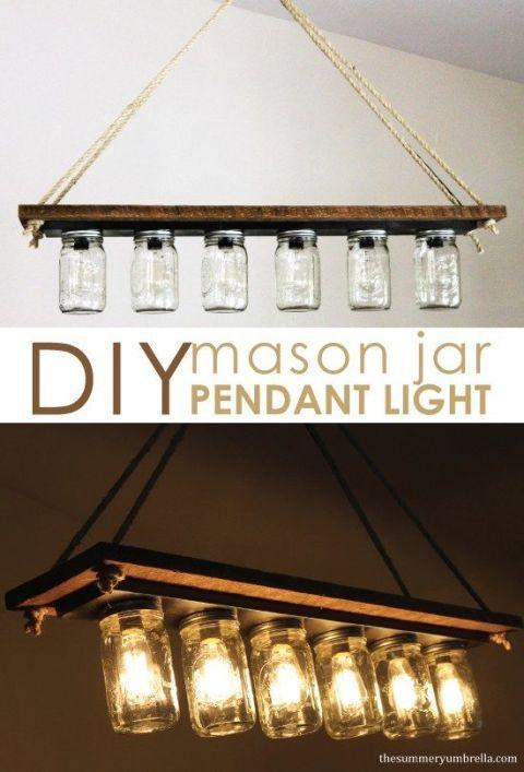diy rustic mason jar light fixtures