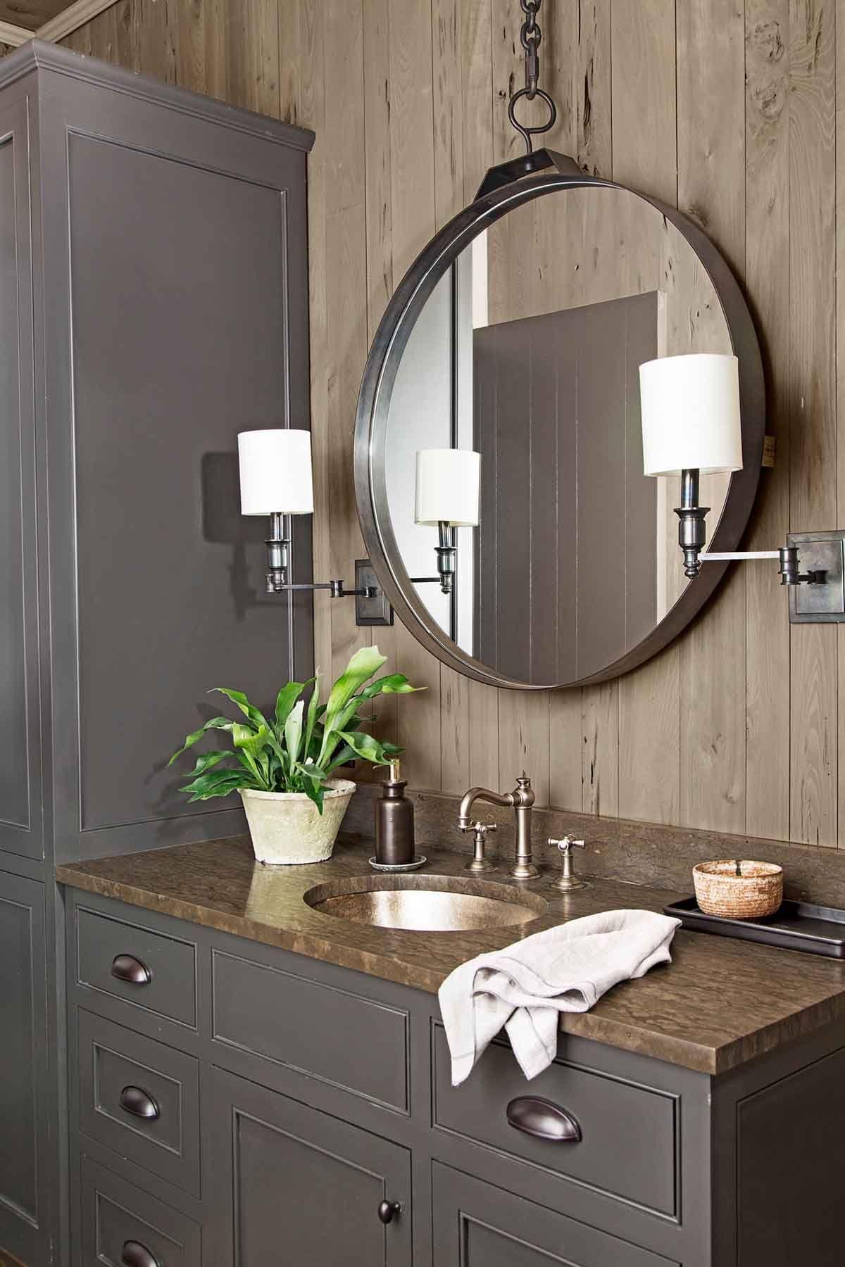 37 Rustic Bathroom Decor Ideas - Rustic Modern Bathroom ... on Rustic Farmhouse Bathroom  id=35938