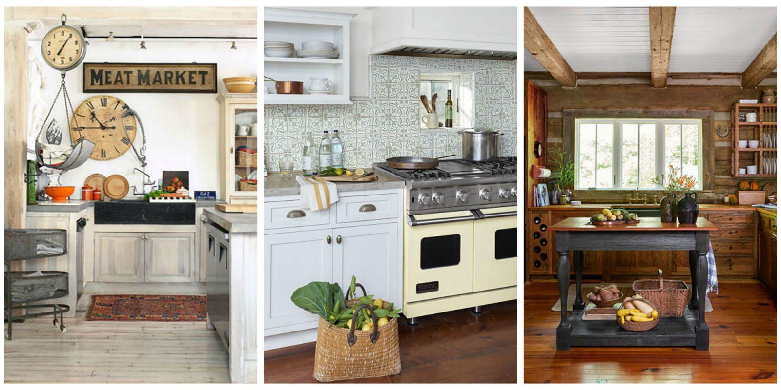 18 Farmhouse Style Kitchens - Rustic Decor Ideas for Kitchens on Rustic Farmhouse Kitchen  id=89814