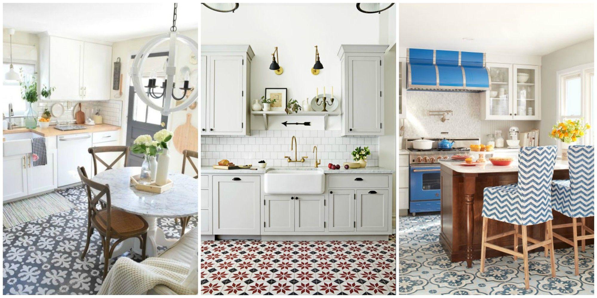 patterned tile floors for kitchen