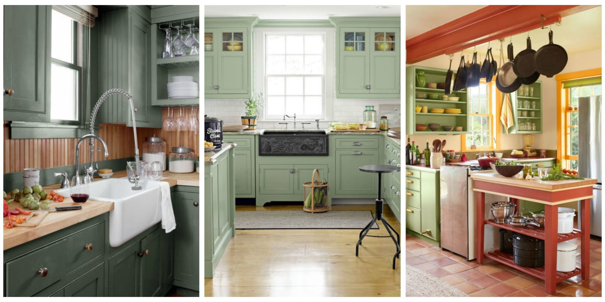 10 Green Kitchen Ideas   Best Green Paint Colors for Kitchens We re here to give you the green light to proceed with your next home  improvement project  With paint options ranging from mint to sage  these  green kitchen