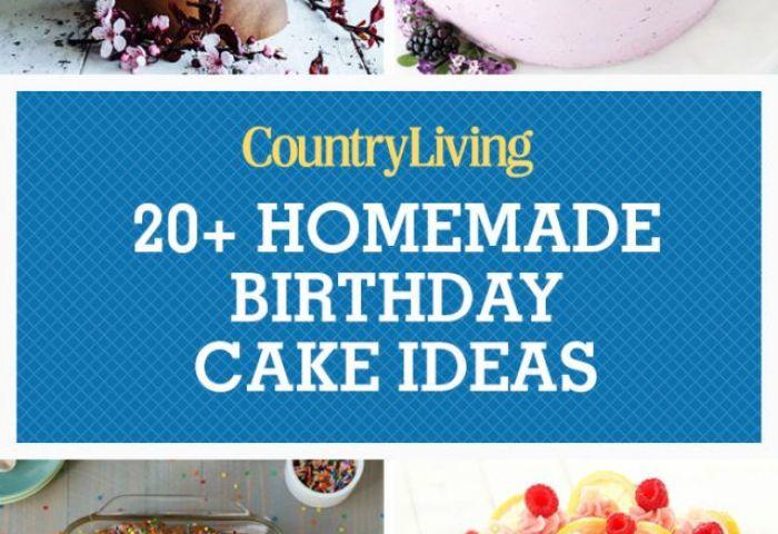 24 Homemade Birthday Cake Ideas Easy Recipes For Birthday Cakes
